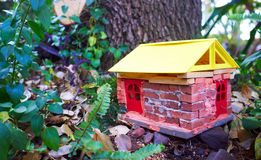 Handmade gnome house Stock Image