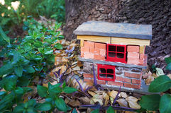 Handmade gnome house Royalty Free Stock Image