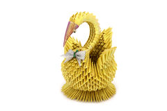 Handmade golden swan souvenir Royalty Free Stock Photos