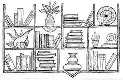 Handmade graphic picture bookshelf Stock Images