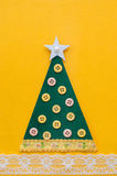 Handmade green Christmas tree. Stock Photos