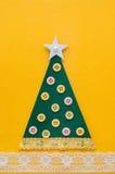 Handmade green Christmas tree. Stock Photos