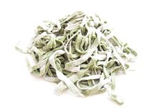 Handmade green pasta Stock Images