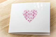 Handmade greeting card Stock Photos