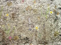 Handmade floral paper texture stock photo