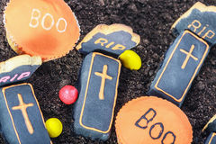 Handmade Halloween cookies and sweets Stock Photography