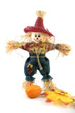 Handmade halloween scarecrow Stock Photo