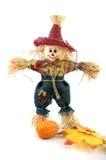 Handmade halloween scarecrow stock photo