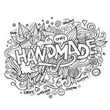Handmade hand lettering and doodles elements Royalty Free Stock Photo