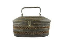 Handmade Handbag made from ieanliepa, natural material. Royalty Free Stock Image