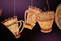 Handmade hanging pannier Royalty Free Stock Photography