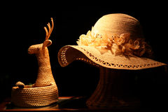 Handmade hat and bag Royalty Free Stock Photo