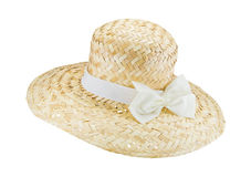 Handmade Hat form Straw and bamboo Royalty Free Stock Image