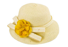 Handmade Hat form Straw and bamboo Royalty Free Stock Photo