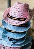 Handmade hat made from grass. At Shuphanburi near Bangkok, Thailand stock photography