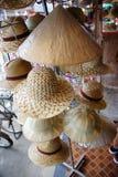 Handmade hats. Handmade straws hats in thailand Royalty Free Stock Image