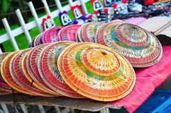 Handmade hats in Thailand Stock Photo