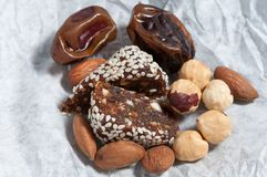 Healthy candy with sesame royalty free stock image