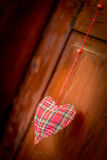 Handmade heart decoration Royalty Free Stock Photo