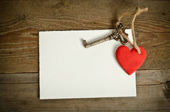 Handmade Heart with key Royalty Free Stock Image