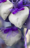 Handmade heart and lavender Stock Photo