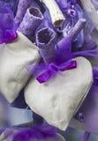 Handmade heart and lavender Stock Photos