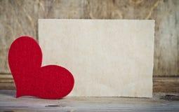 Handmade heart from red felt Royalty Free Stock Photography