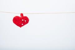 Handmade heart Stock Image