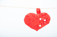 Handmade heart Stock Photography