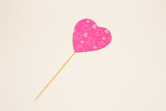 Handmade heart shaped props Stock Photography
