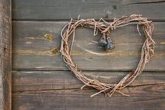 Handmade heart shaped wreath Royalty Free Stock Photography