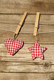 Handmade heart and star Royalty Free Stock Photo