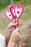 Handmade heart stick Stock Image