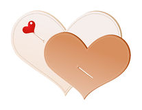 Handmade hearts Royalty Free Stock Photography