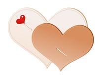 Handmade hearts Royalty Free Stock Photography