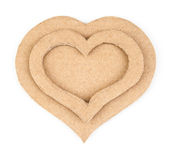 Handmade hearts applique made of cardboard Royalty Free Stock Photography