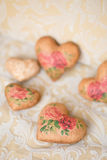 Handmade hearts Stock Photography