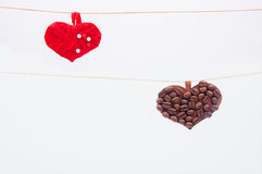 Handmade hearts Royalty Free Stock Image