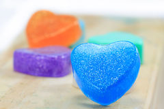 Handmade hearts shaped for valentine day Stock Image