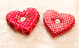 Handmade hearts for Valentines day Stock Images