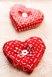 Handmade hearts for Valentines day Royalty Free Stock Image