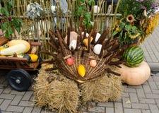 Handmade hedgehog autumn harvest goodie Royalty Free Stock Photography