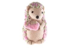 Handmade hedgehog toy mother Royalty Free Stock Images
