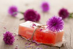 Handmade herbal soap Royalty Free Stock Images