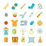 Handmade hobby activities vector flat icons Royalty Free Stock Photos