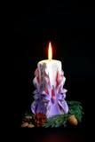 Handmade Holiday Candles Royalty Free Stock Image