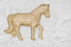 Handmade horse toy Stock Photography
