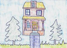 Handmade house Stock Photo