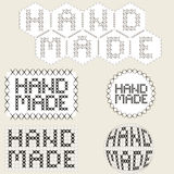 handmade icons. Cross-stitch. Patchwork. Royalty Free Stock Photography
