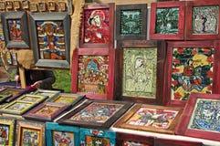 Religious handmade icons Royalty Free Stock Photos